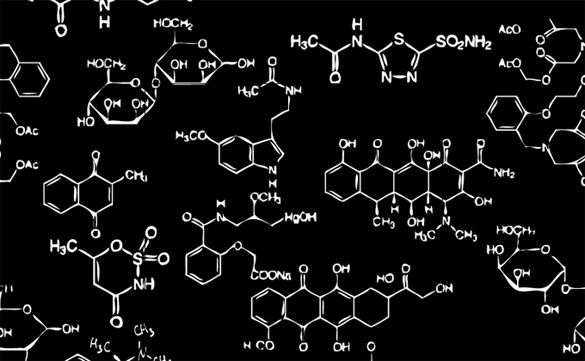 Dibujos de estructuras químicas