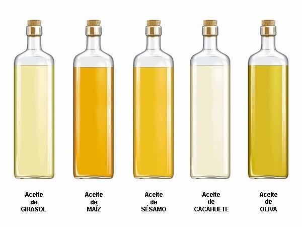 Diferentes aceites vegetales