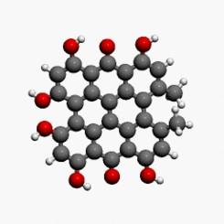 Estructura química de la hipericina