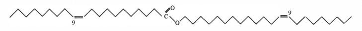 Estructura química del aceite de jojoba