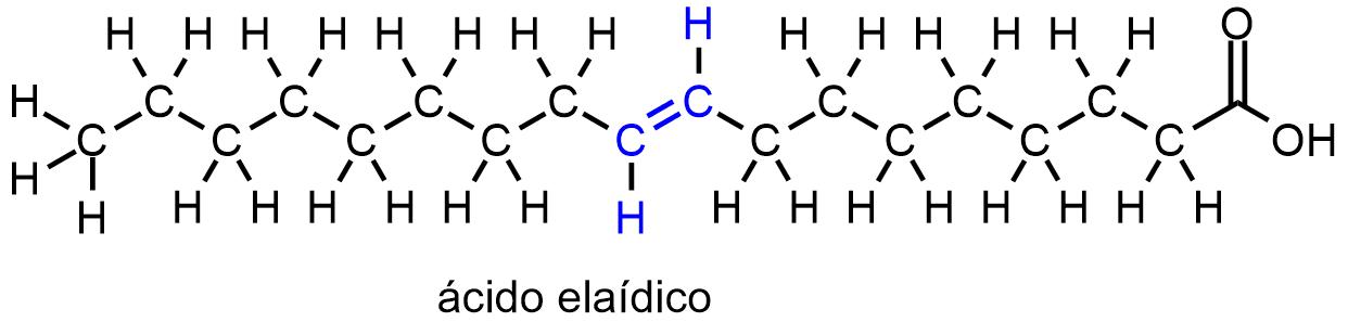 Molécula de ácido elaídico