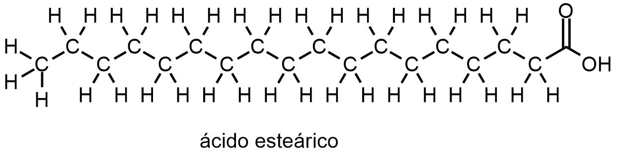 Molécula de ácido esteárico