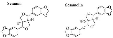 Moléculas de sesamina y sesamolina