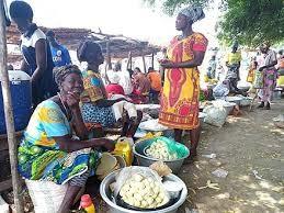 Poblado africano con manteca de karite