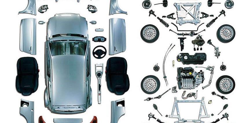 Piezas de un automóvil