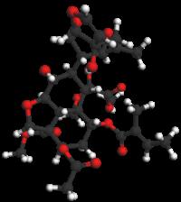 Estructura molecular de la azadiractina