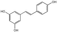 Estructura química del resveratrol