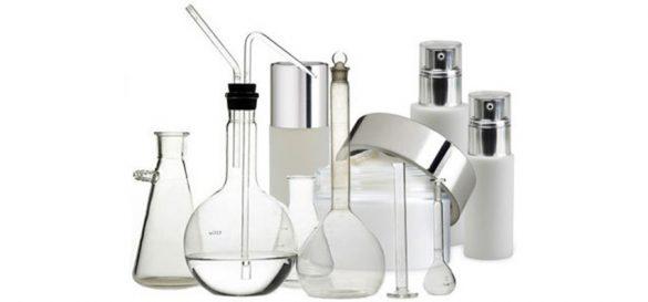 frascos de cosmética