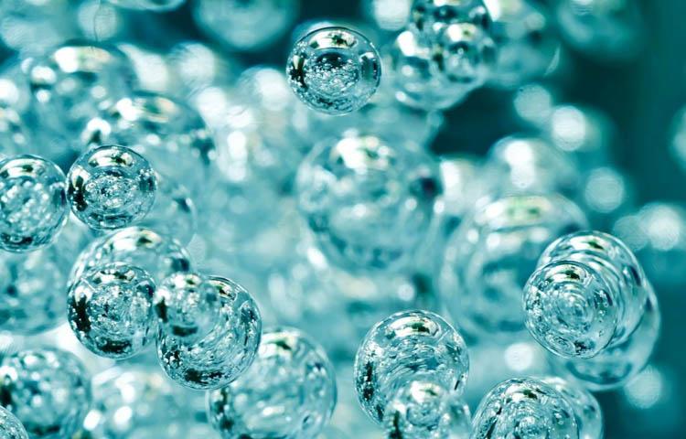 Imagen burbujas de un líquido viscoso