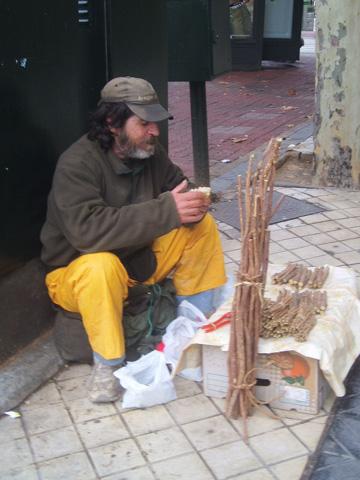 El último vendedor ambulante de regaliz de Zaragoza