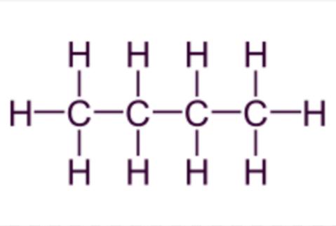 Fórmula desarrollada del butano