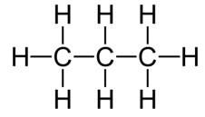 Fórmula desarrollada del propano